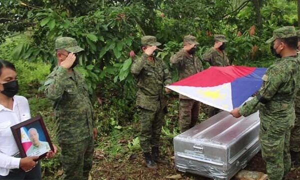 Army gives Funeral Honor to Fallen Hero, as He Finally Got Home in Kadingilan Bukidnon
